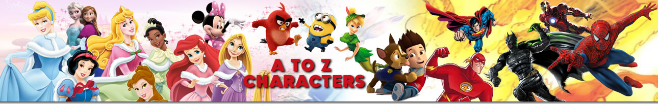 A to Z Characters